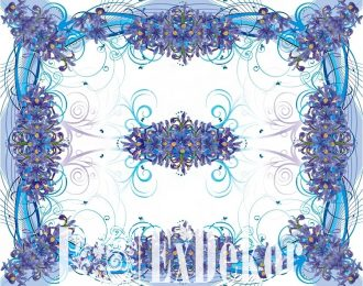 Скатерть «Синие ирисы»