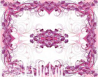 Скатерть «Лиловые орхидеи»