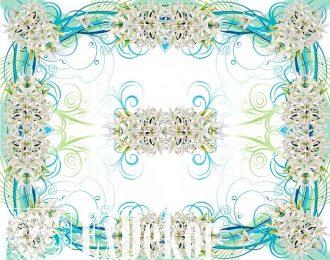 Скатерть «Белые лилии»