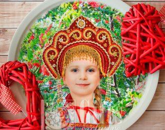 Тарелка «Русской красавице»