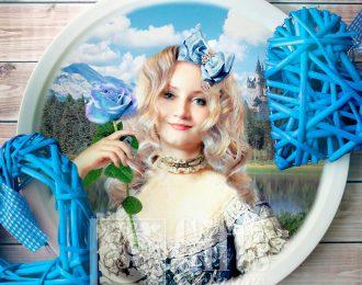 Тарелка «Романтичный портрет»