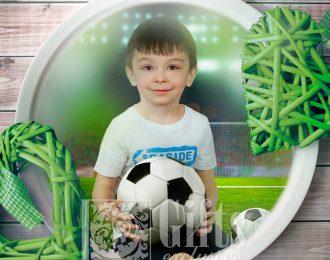 Тарелка «Подарок футболисту»