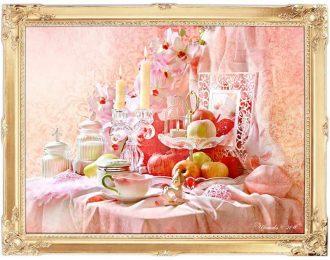 Натюрморт «Жизнь в розовом цвете»