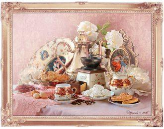 Натюрморт «Розовый кофе»