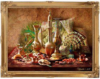 Натюрморт с латунью «1000 и 1 ночь. Индийские сказки»